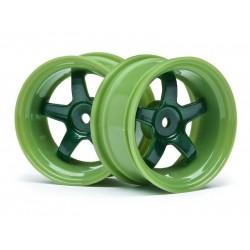 1/10 WORK MEISTER S1 WHEEL GREEN 26mm (6mm OS/2pcs)