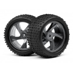 1/18 TRUGGY WHEEL & TYRE ASSEMBLY (ION XT)