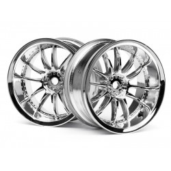 WORK XSA 02C WHEEL 26mm CHROME (6mm OFFSET) (2pcs)