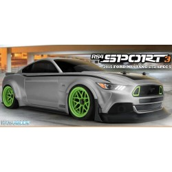 HPI 1/10 RS4 Sport 3 RTR w/2015 Ford Mustang Body & 2.4GHz Radio System