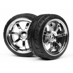 1/10 Mounted T-Grıp Tıre 26Mm Rays 57S-Pro Wheel Chrome