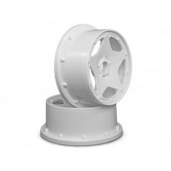 SUPER STAR WHEEL WHITE (120x60mm/2pcs) BAJA 5B/For Front