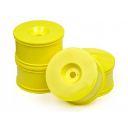 HB T-DISH WHEELS (YELLOW) FOR TRUGGY 4pcs