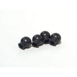 BALL 6.8x7.3x3mm (BLACK/4pcs)