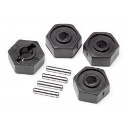 Wheel Hex Adaptors w/Pins 2x10 4pcs