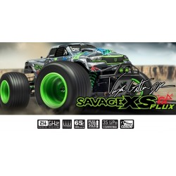 HPI 1/16 Savage XS Flux Vaughn Gittin Jr Signature Edition Waterproof 2.4GHz 4WD RTR