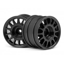 1/8 WR8 RALLY OFF-ROAD WHEEL BLACK (48X33MM/2PCS)