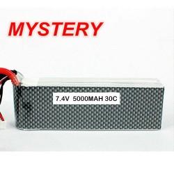 Mystery RC Car Lipo Battery 7.4V 5000mAh 30C Soft Case