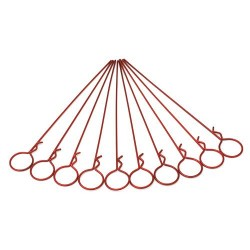Long Large-ring Red Body Clips(10pcs)