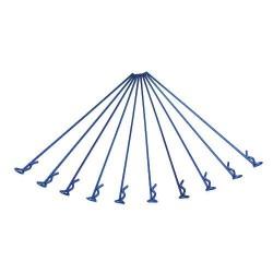 Long Small-ring Navy-blue Body Clips 10PCS