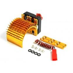 Golden Aluminum Motor Heat Sink w/ adjustable fan (side)