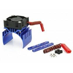 Blue Aluminum Motor Heat Sink w/ adjustable fan (top)