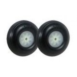 Ø2.25*22mm Treaded Rubber Wheels 2pcs