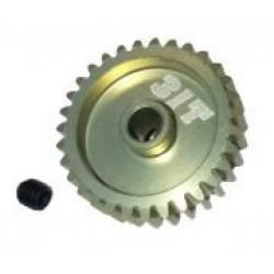 48 Pitch Pinion Gear 31T (7075 w/ Hard Coating)