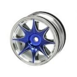 1/10 8 Spoke Wheel Set For Tamiya M-Chassis Series (4pcs)- Blue