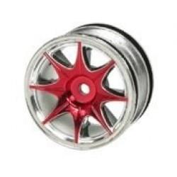 1/10 8 Spoke Wheel Set For Tamiya M-Chassis Series (4pcs)- RED