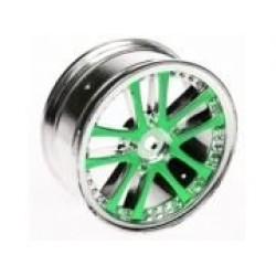 1/10 5 Dual Spoke Rim On Road (0 Offset - 24mm) 4pcs- Green
