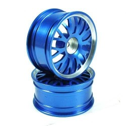 Blue 10 Y-spoke Aluminum Wheels 1 Pair(1/10 Car)