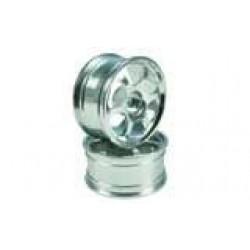 Silver 6-spoke Aluminum Wheels 1 pair(1/10 Car)