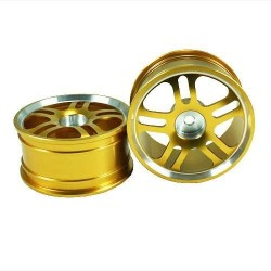 Golden 5 Dual-spoke Aluminum Wheels 1 pair(1/10 Car)