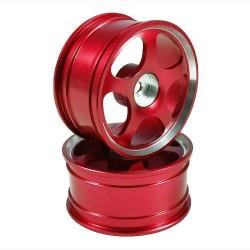 Red 5-spoke Aluminum Wheels 1 pair(1/10 Car)