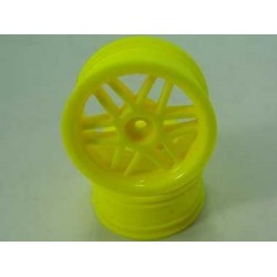 Yellow 6 Dual-spoke Wheels 1 pair(1/10 Car)
