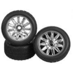 1/8 Truggy Tyre & Wheel Set ( 4 Pcs )