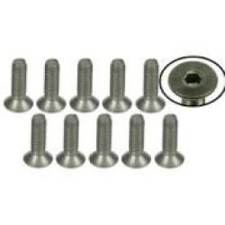 M3 x 10 Titanium Flat Head Hex Socket - Machine (10 Pcs)
