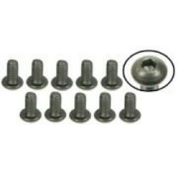 M3 x 6 Titanium Button Head Hex Socket - Machine (10 Pcs)