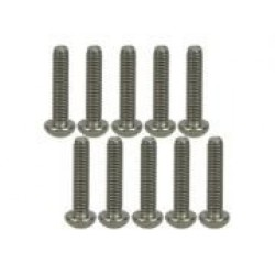 M3 x 14 Titanium Button Head Hex Socket - Machine (10 Pcs)