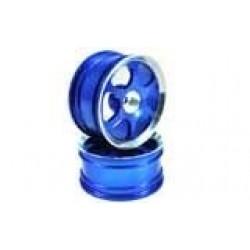 Blue 6-spoke Aluminum Wheels 1 pair(1/10 Car)