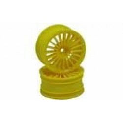 Yellow 20 Spoke Wheels 1 pair(1/10 Car)