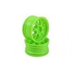 Green 7 Y-Spoke Wheels 1 pair(1/10 Car, 3mm Offset)