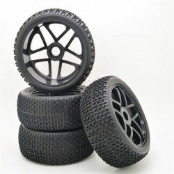 17mm for HSP RC 1:8 Off-road Car T Grain Rubber Tires &Wheel(4Adet)
