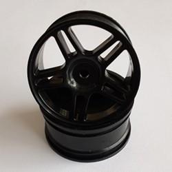 5-Spoke Plastic Wheel Rim Black