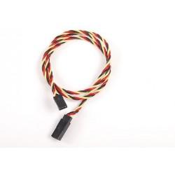 Twisted Servo Lead Extention(JR) 60 Cm 22 Awg