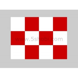 30*30mm Red-white Squares Covering Film -638*1000mm